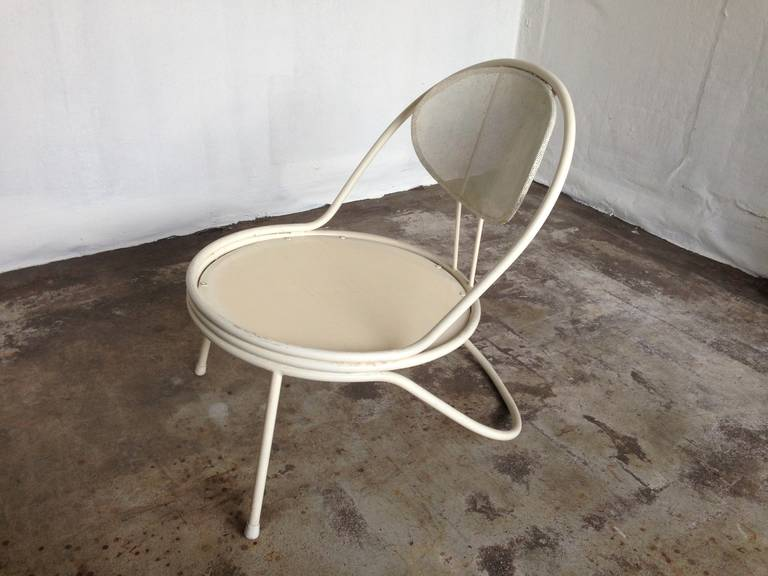 French Mathieu Mategot Copacabana lounge chair For Sale