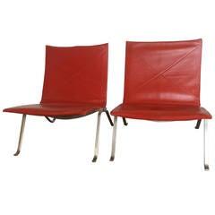 Two Poul Kjaerholm Leather Chairs, First Editon Kold Christensen