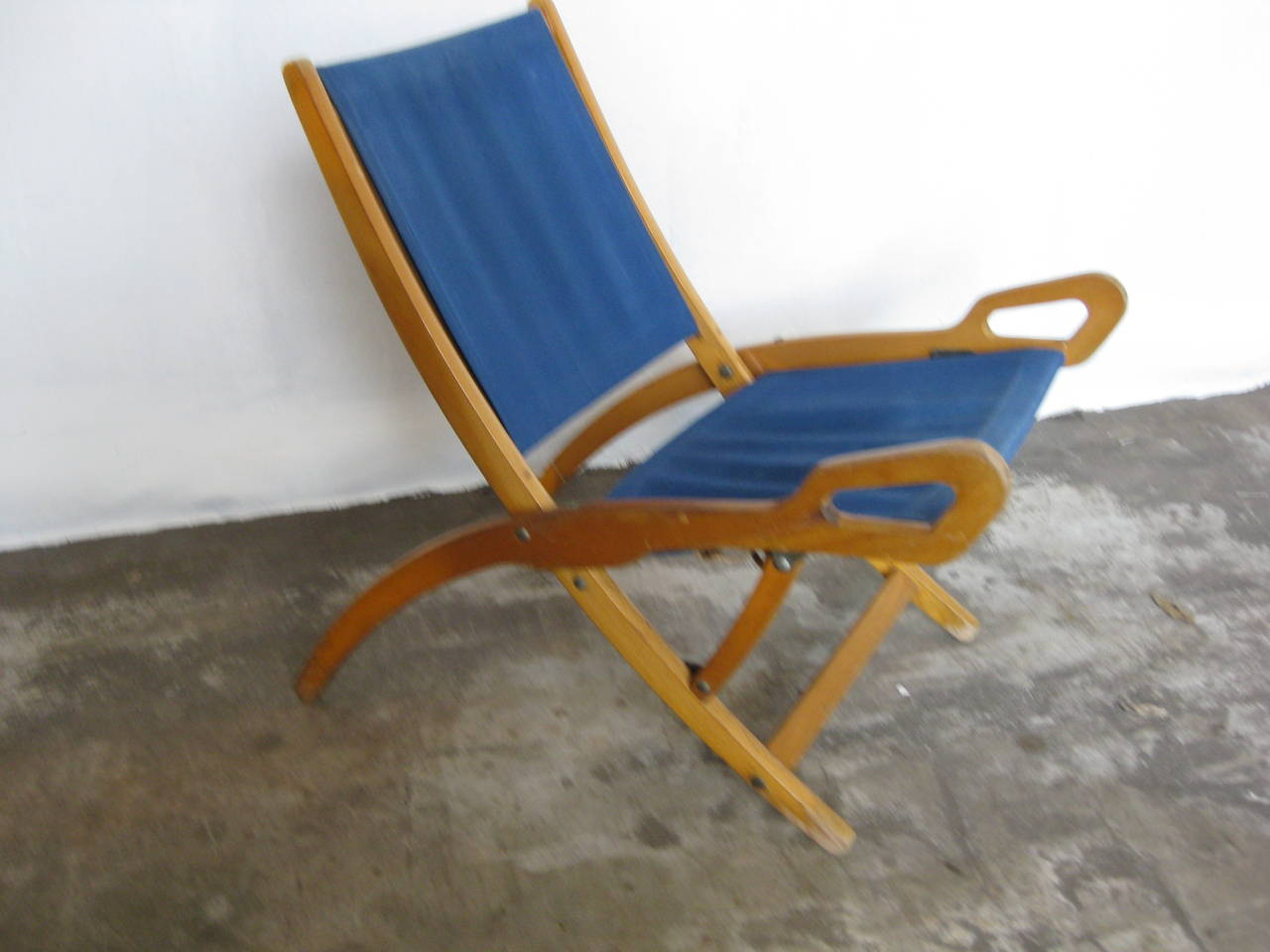 Gio ponti Nifea folding chair In Fair Condition For Sale In Heesch, NL