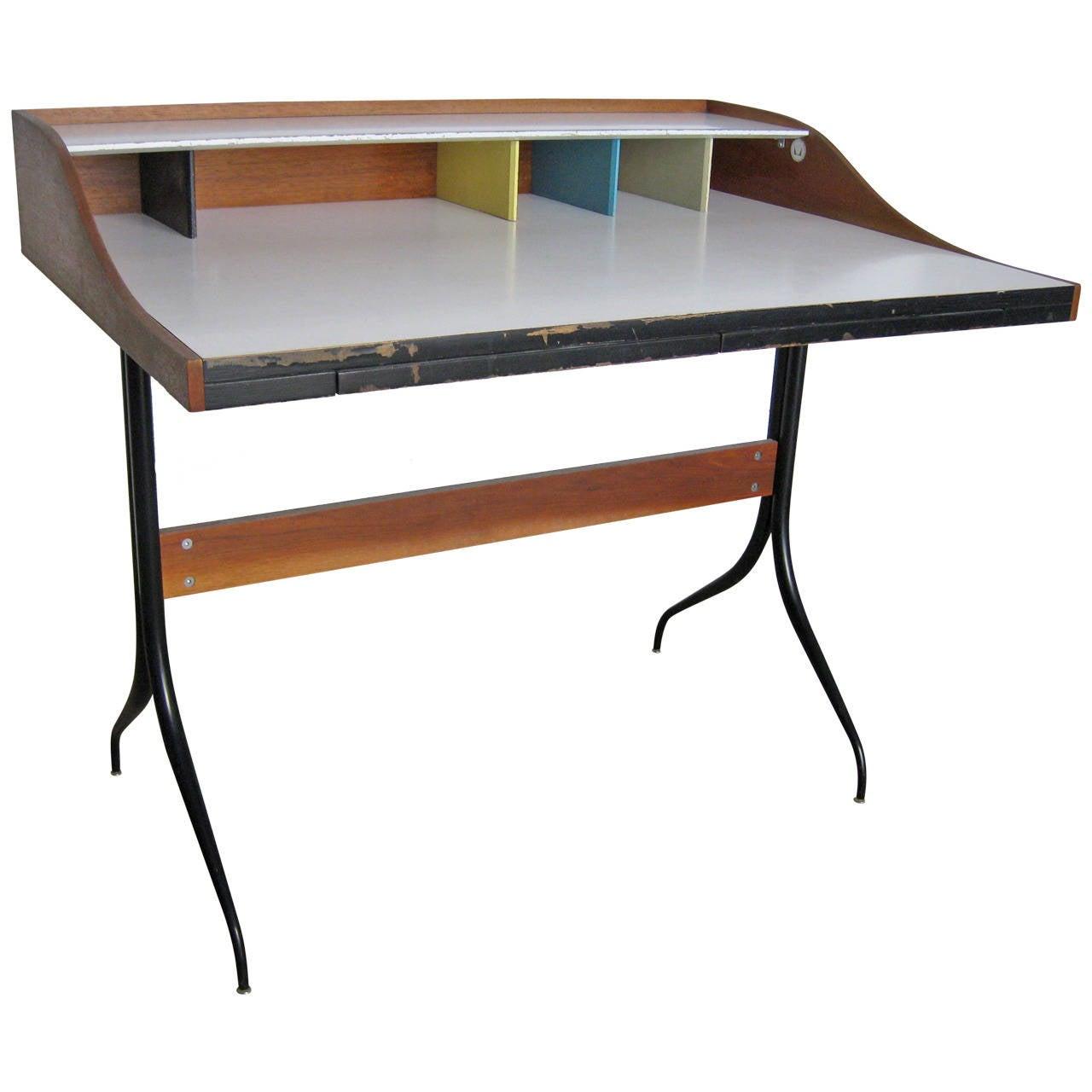 George Nelson Swaged-Leg desk