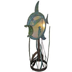 Amazing big fish floor lamp