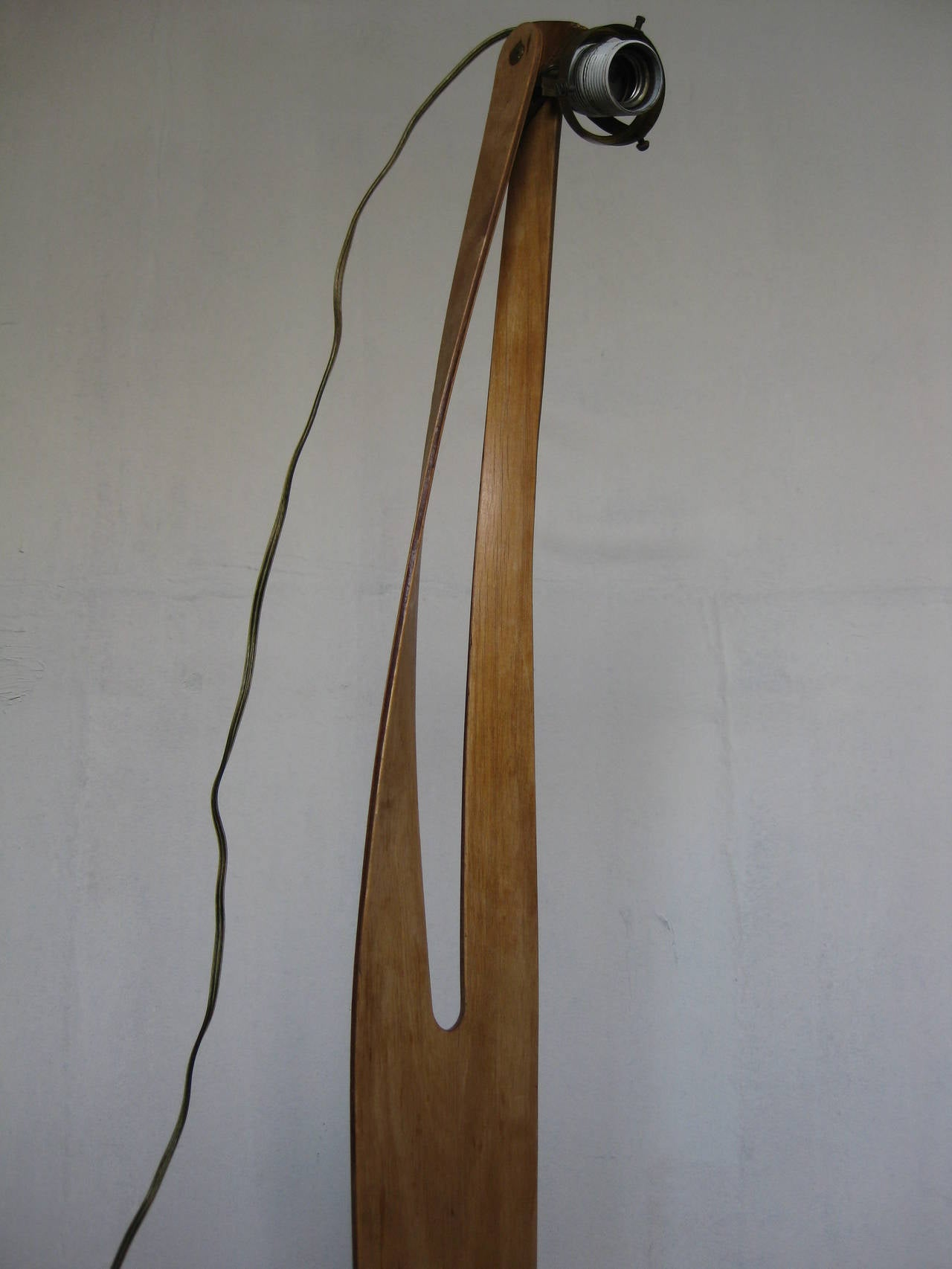 rare han pieck signed unique floor lamp for sale at 1stdibs. Black Bedroom Furniture Sets. Home Design Ideas