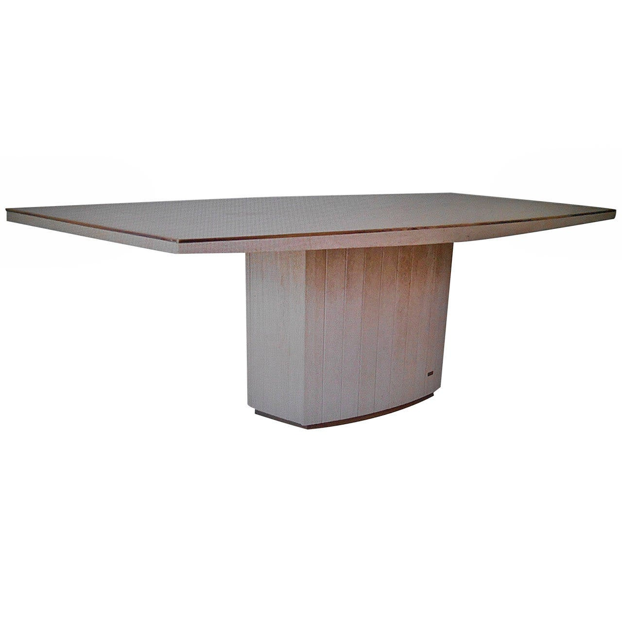 Willy rizzo and j charles travertine table at 1stdibs for Table willy rizzo