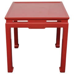 Chinese Red Custom Asian Style Games Table