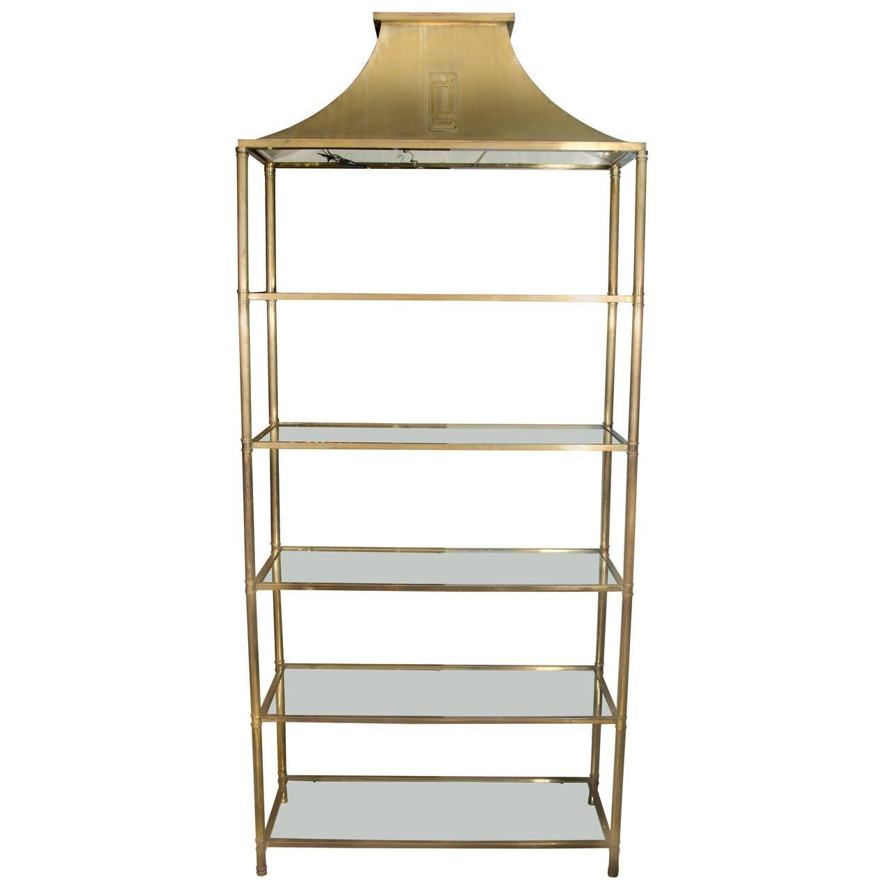 brass pagoda form tager circa 1960s for sale at 1stdibs. Black Bedroom Furniture Sets. Home Design Ideas