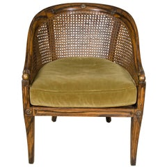 Vintage Regency Style Caned Armchair