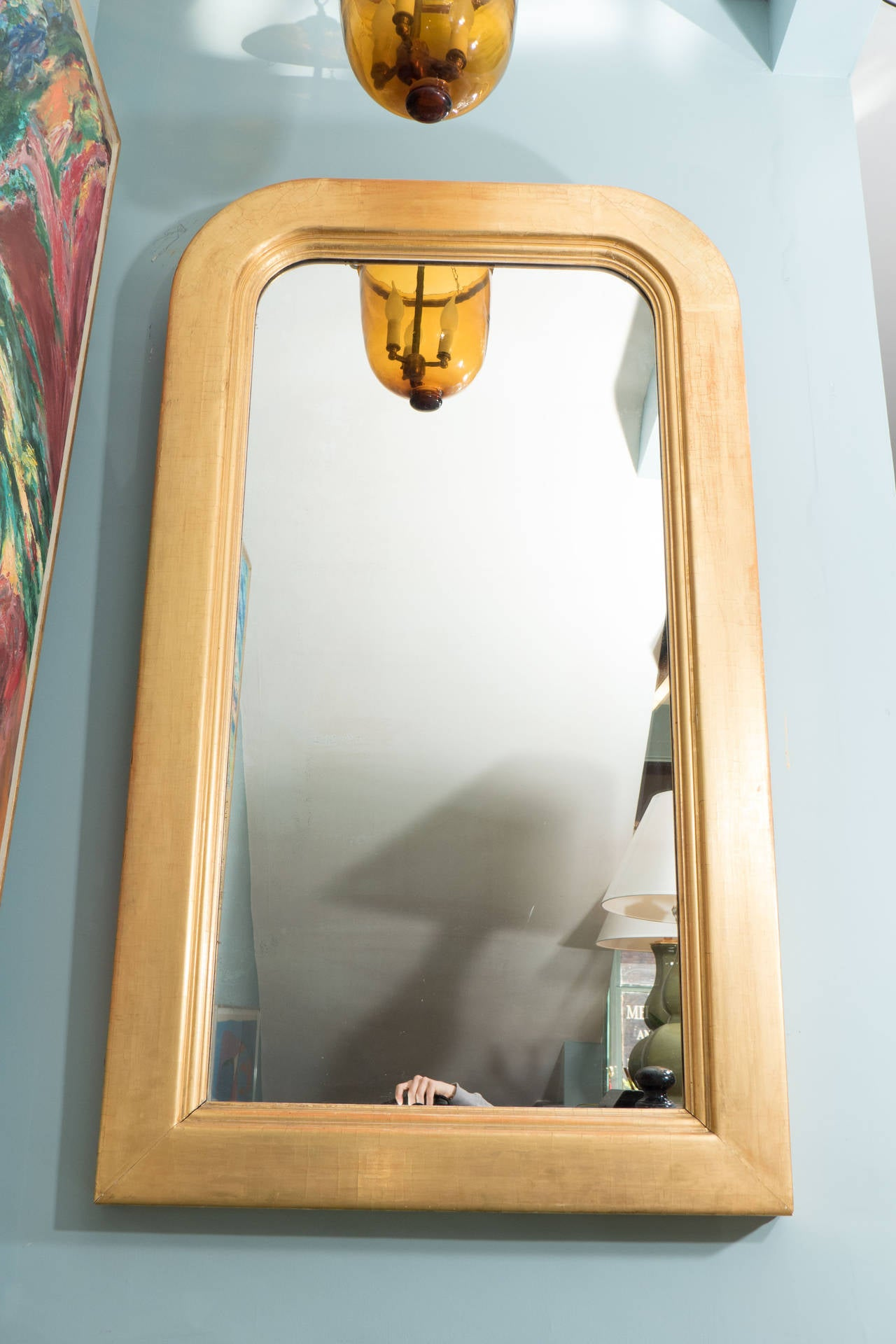 19th Century 19th c. Giltwood American Mirror For Sale