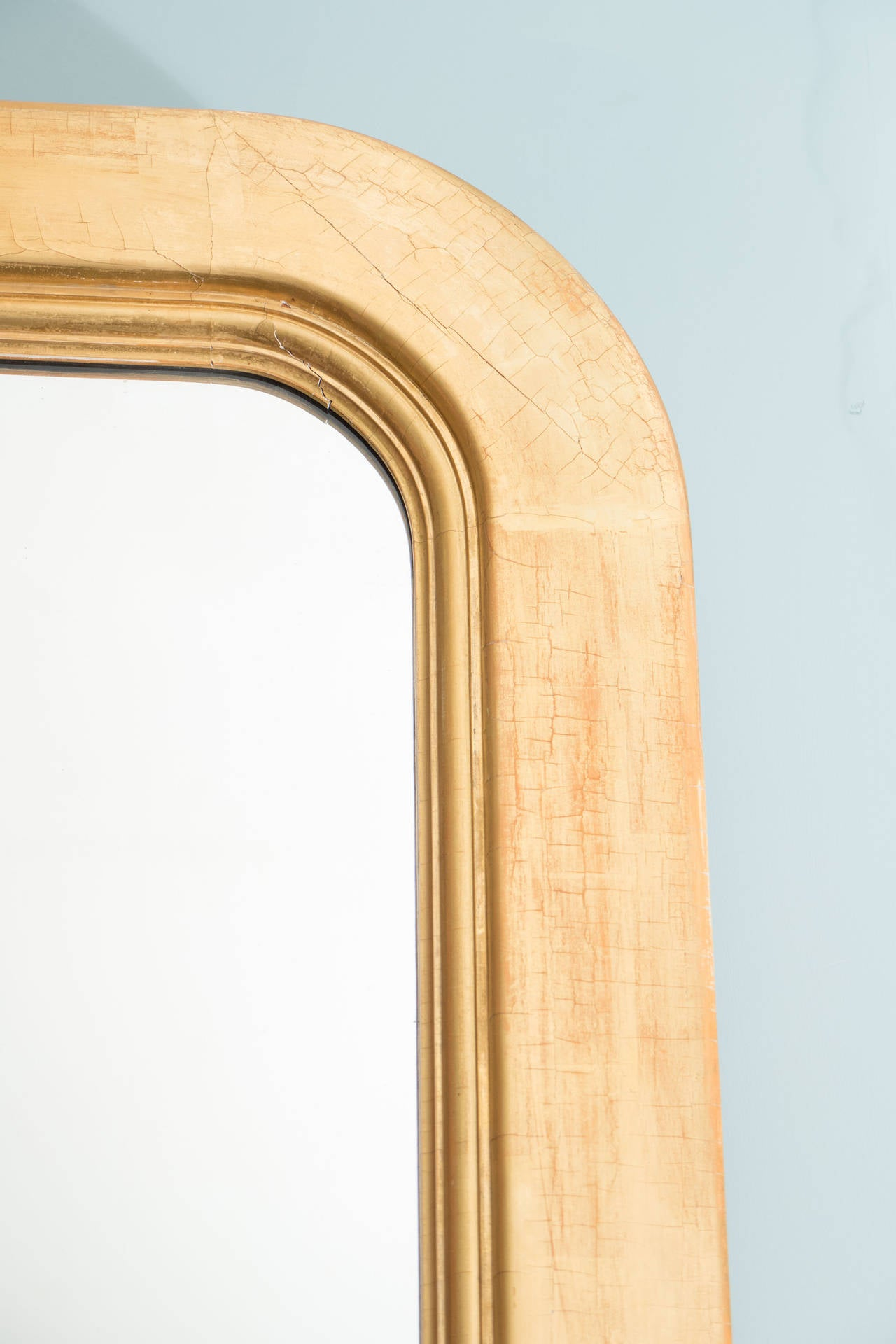 19th c. Giltwood American Mirror For Sale 2