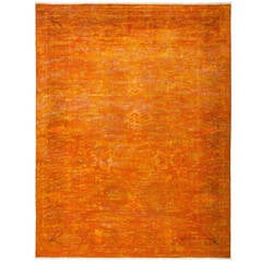 Vibrant Hand-Knotted Pakistani Rug, One-of-a-Kind