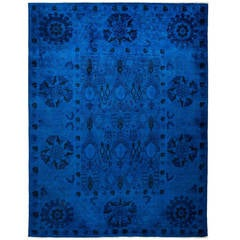 Over-Dyed Hand-Knotted Area Rug