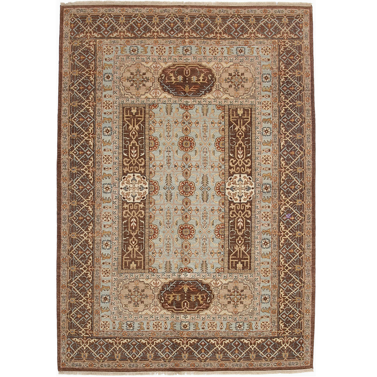 Indian Oushak Oriental Hand Knotted Rug For Sale At 1stdibs