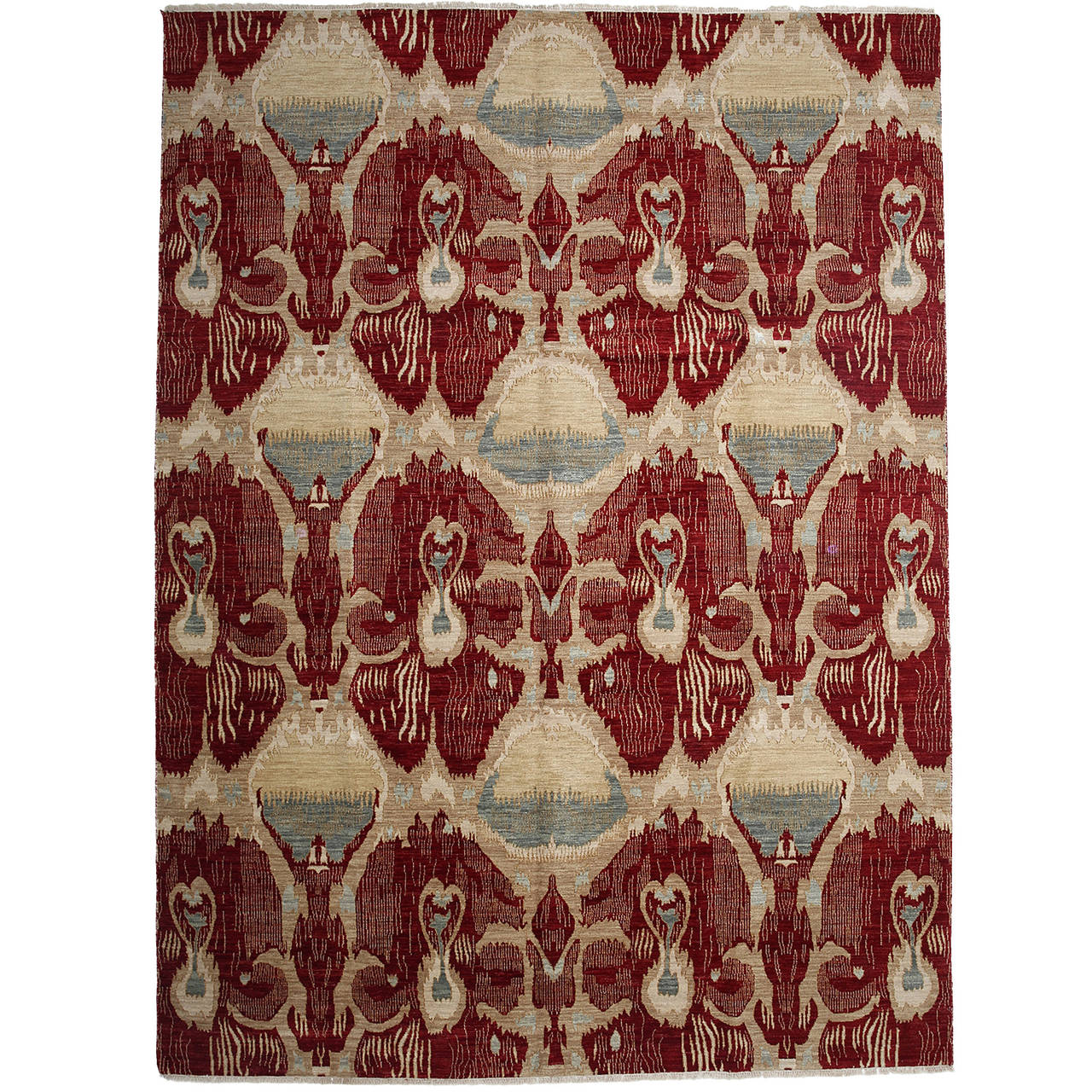 Ikat Collection Indian Oriental Rug For Sale At 1stdibs