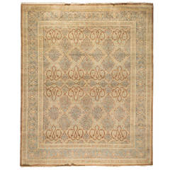 Mogul Oriental Rug, Hand-Knotted