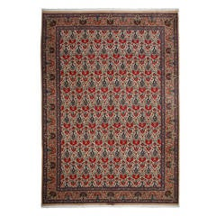Ghom, Hand-Knotted Persian Area Rug