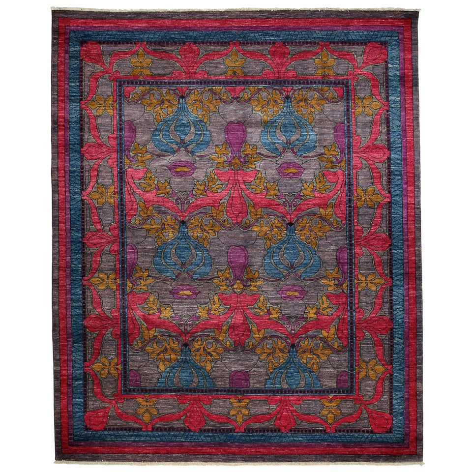Arts And Crafts Rugs With Exciting Indian Agra Rug Design: Darya Arts And Crafts, Oriental Rug At 1stdibs