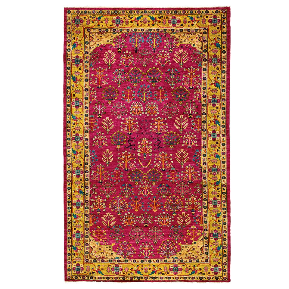 Pakistani Sultanabad One Of A Kind Rug For Sale At 1stdibs