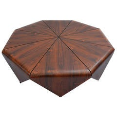 """Petalas"" Octagonal Brazilian Jacaranda Coffee Table"