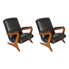 Pair of Armchairs by Jose Zanine Caldas