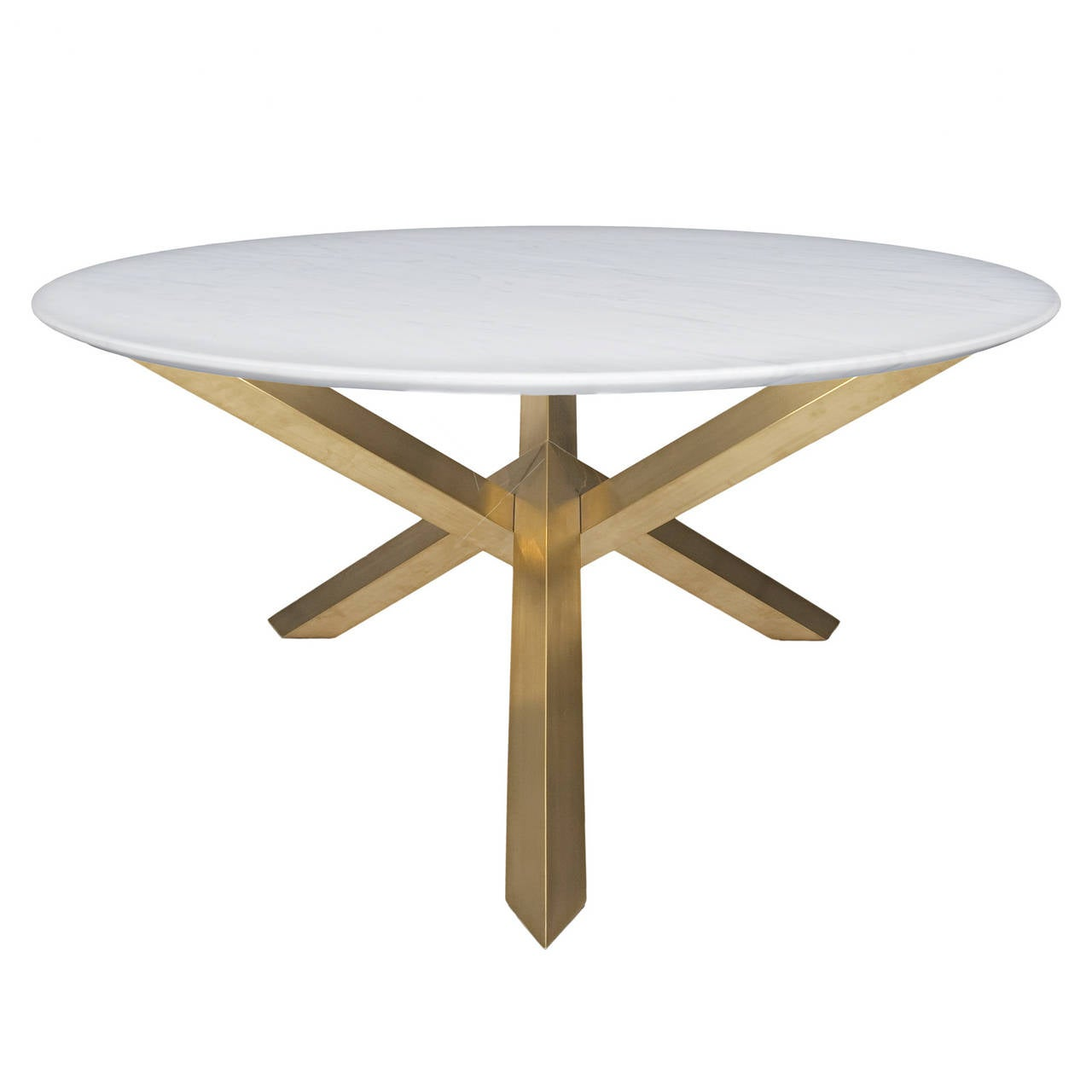 round dining table with brass legs for sale at 1stdibs. Black Bedroom Furniture Sets. Home Design Ideas