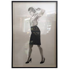 """Cindy"" Lithograph by Robert Longo"