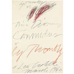 """Nine Discourses on Commodus"" by Cy Twombly"