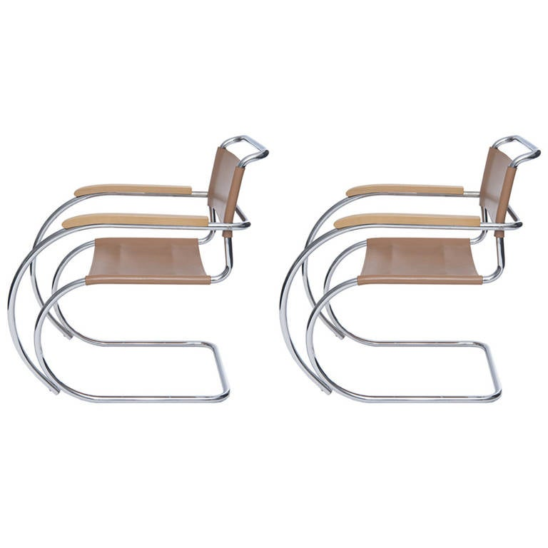 MR Lounge Chairs by Mies Van der Rohe
