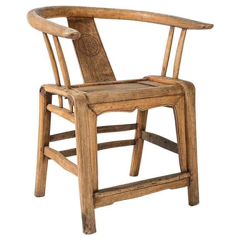 18th Century, Antique Wood Chair