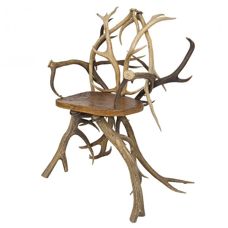 Mid Century Vintage Antler Chair 2