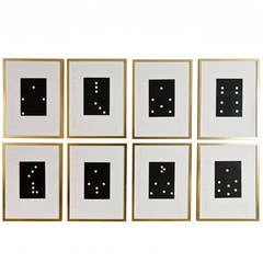 """""""Dominos"""" by Donald Sultan, Set of Eight Painting"""
