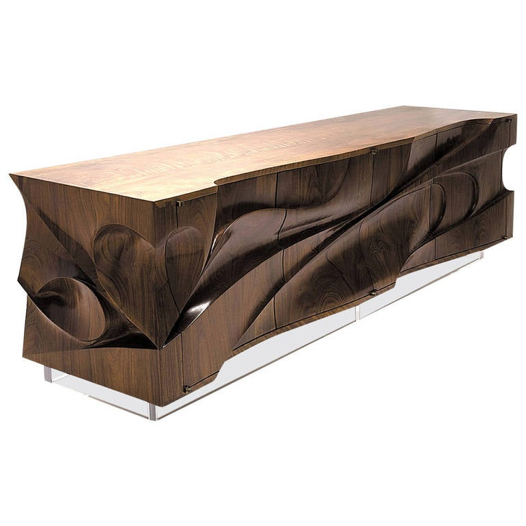 Beautiful Wood Sideboard ~ Ebb tide for sale at stdibs