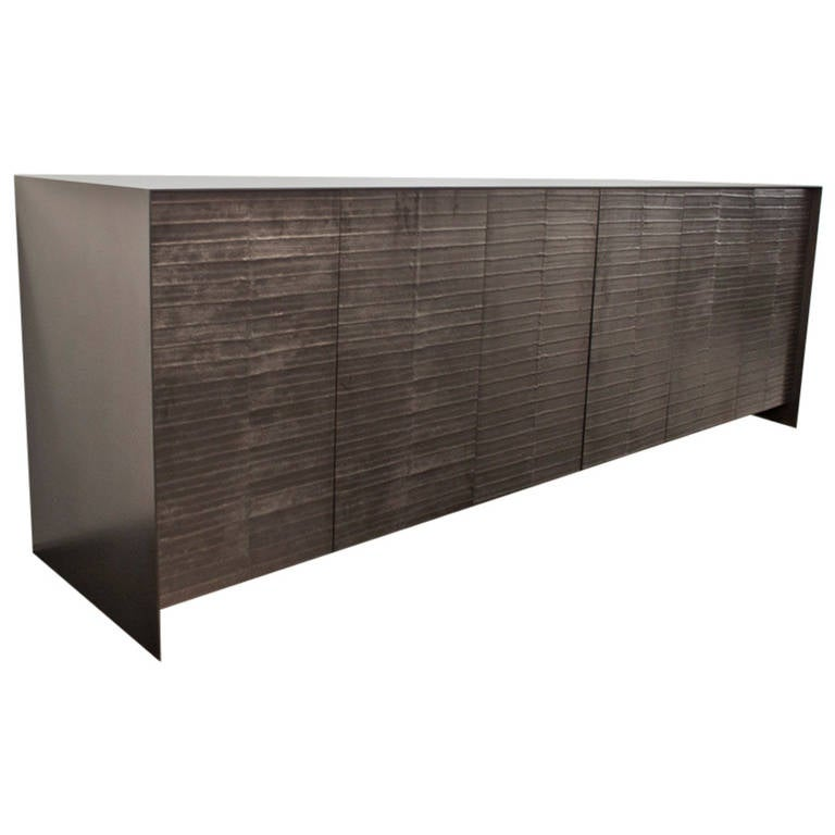 Steel And Graphite Dining Room Credenza 1