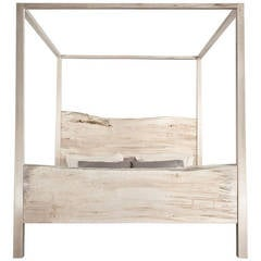 King Canopy Bed, Solid Maple