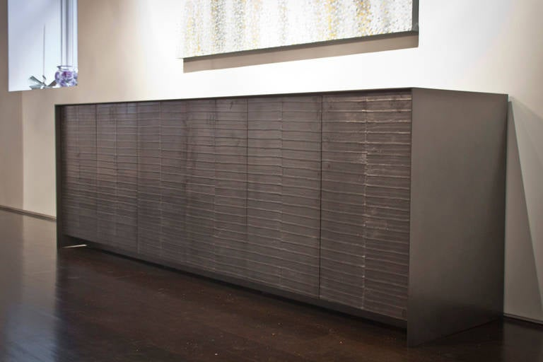 Steel and Graphite Dining Room Credenza For