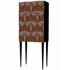 OpArt Drinks Cabinet - Copper