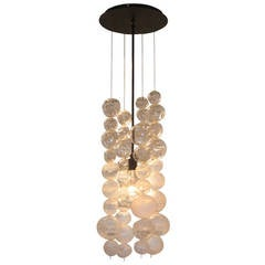 Dimpled Ball Chandelier