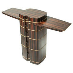 Macassar Ebony Hall Table