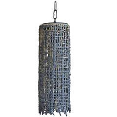 Hanging Basket Weave Tall Pendant