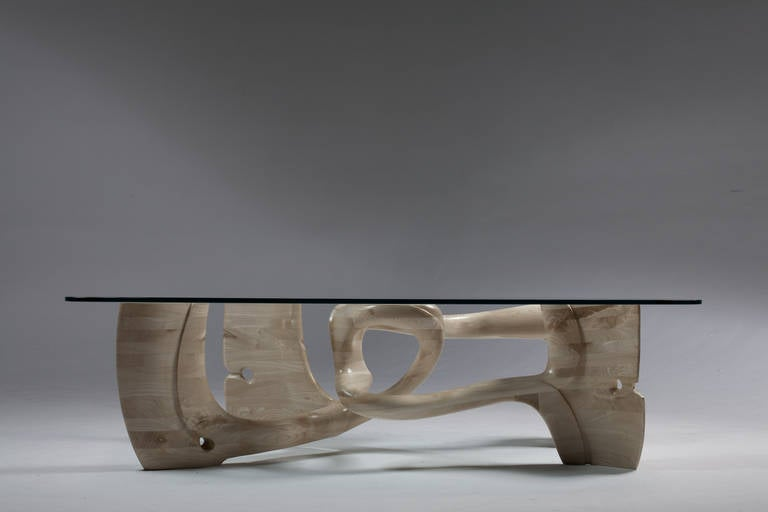 Graceful Swirl Of Sculpture Table For Sale At 1stdibs