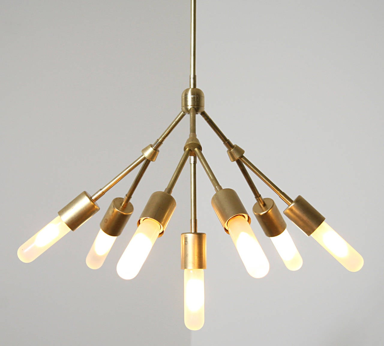 Orb Chandelier Light 14 Atomic Light Fixture Industrial: Seven Globe Bulbs Chandelier For Sale At 1stdibs