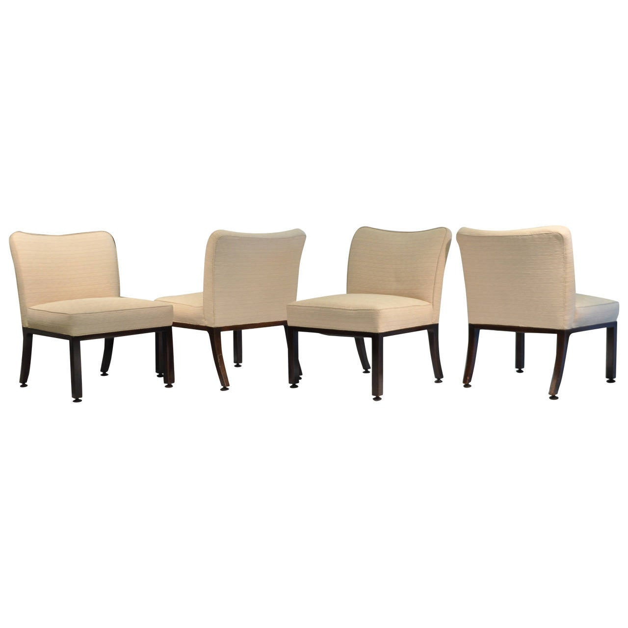 set of four edward wormley upholstered dining chairs at 1stdibs