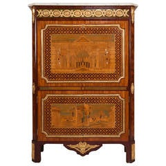 18th Century Secretaire Abattant by Letellier