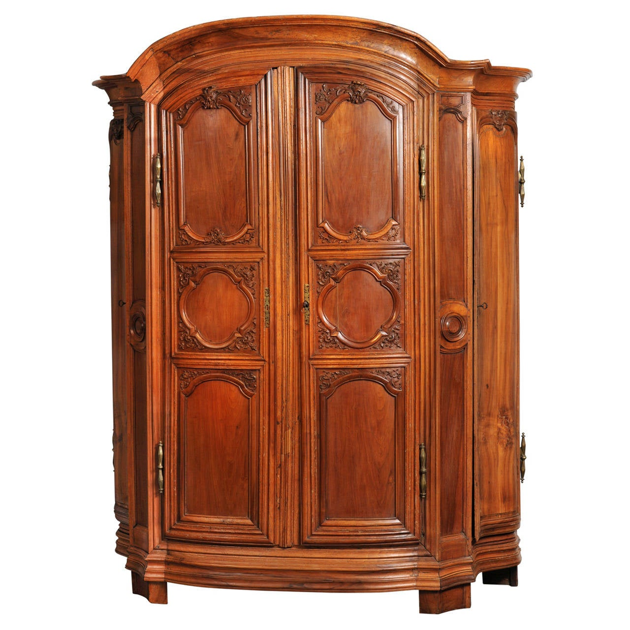 Large Closet In Walnut Richly Ornamented At 1stdibs