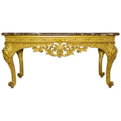 Wildfowl Table in Gilded Wood of the Regency Period