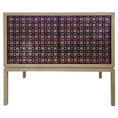 Nada Debs White Lacquer and Mother-of-Pearl Le Buffet
