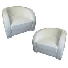 Super Chic Pair of Moderne Lounge Chairs