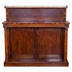 Regency Rosewood Chiffonier Side Cabinet