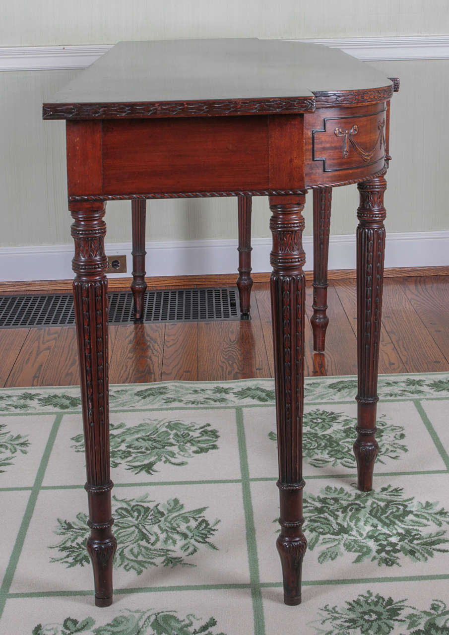 19th Century Adam Style Mahogany Console Serving Table 6