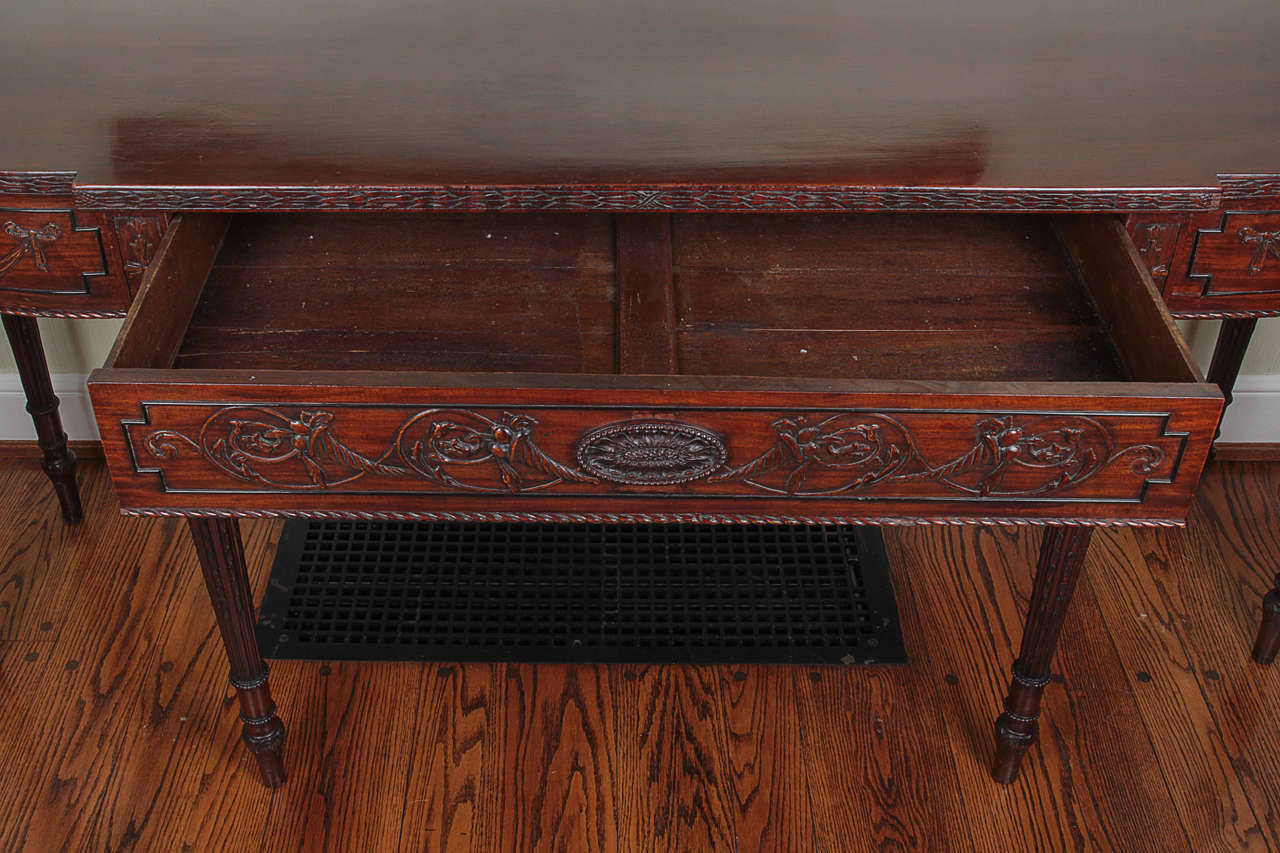 19th Century Adam Style Mahogany Console Serving Table 8