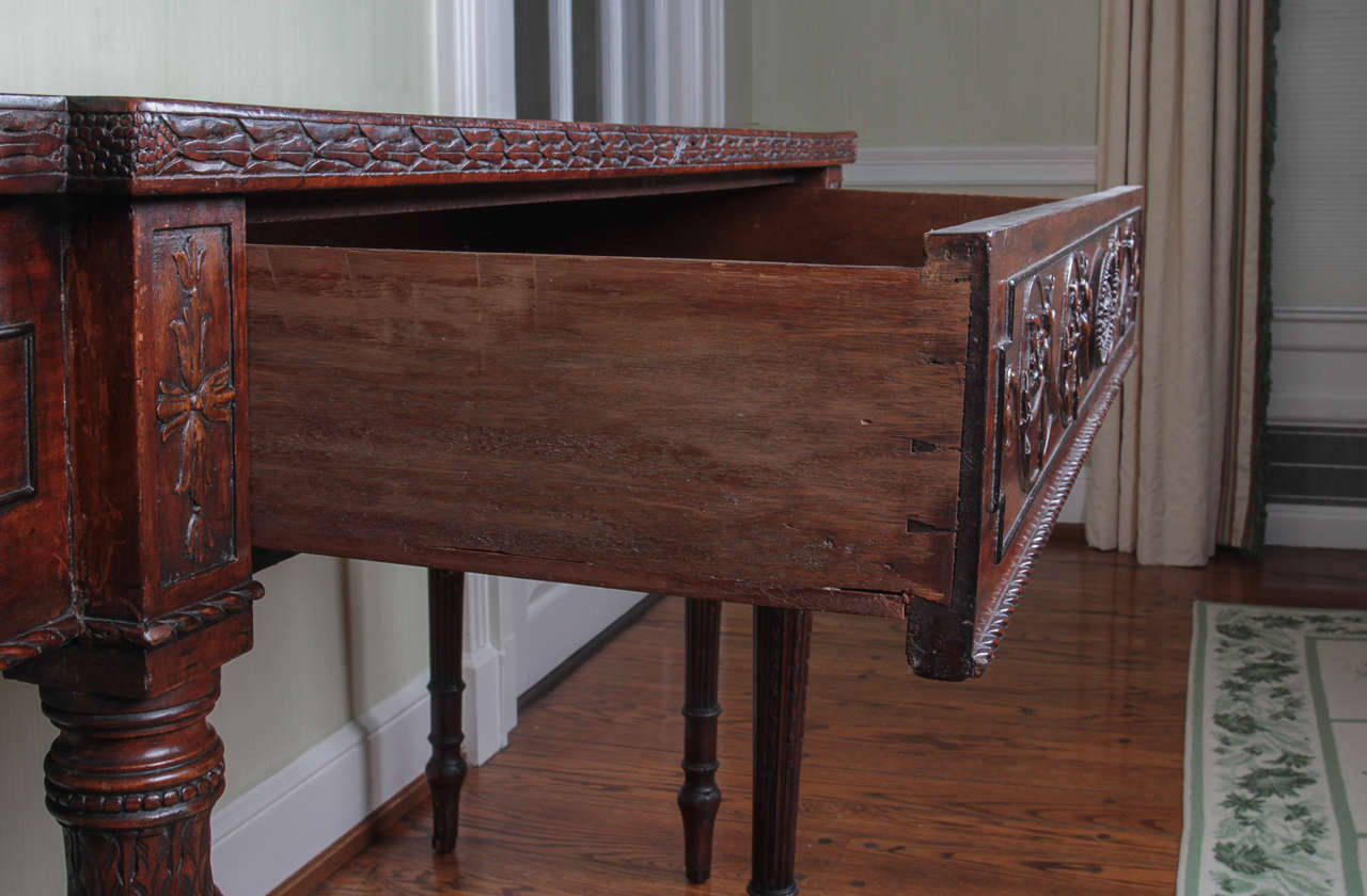 19th Century Adam Style Mahogany Console Serving Table 7
