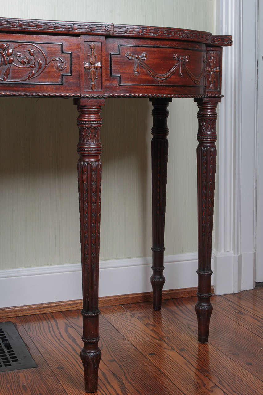 19th Century Adam Style Mahogany Console Serving Table 2